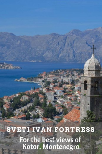The view of Kotor from the fortress climb