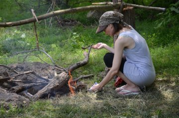 Bushcraft can be for family fun