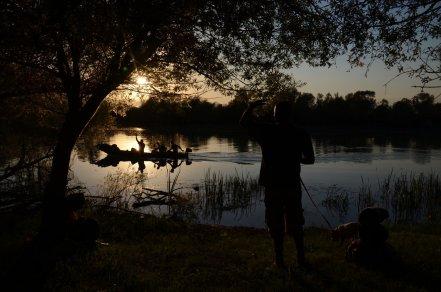 Skadar Lake at dusk