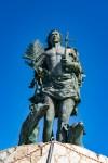 Statue of San Vito all'ingresso in the Port of San Vito Lo Capo Italy (Sicily)
