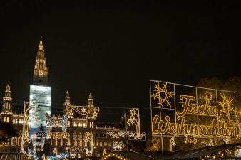 A view of the Christmas scene Vienna Austria