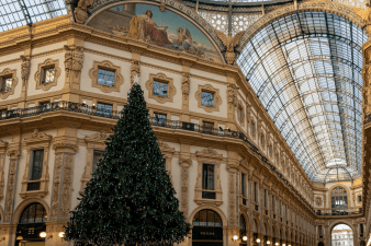 The Galleria Vittorio Emauele II in Milan Italy