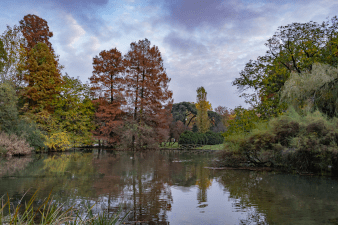 Sempione Park in Milan Italy