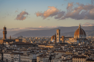 A view of Florence Italy Italy from Piazzale Michelangelo