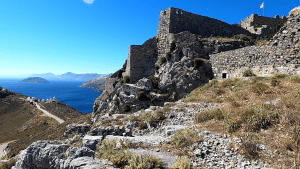 Video – Leros Castle (Dodecanese Island, Greece) early July 2020
