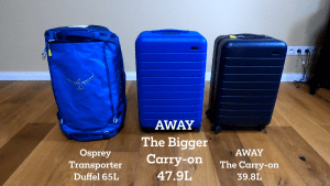 Video Review – The Bigger Carry-on from AWAY Travel – after 8+ months as my primary piece of luggage
