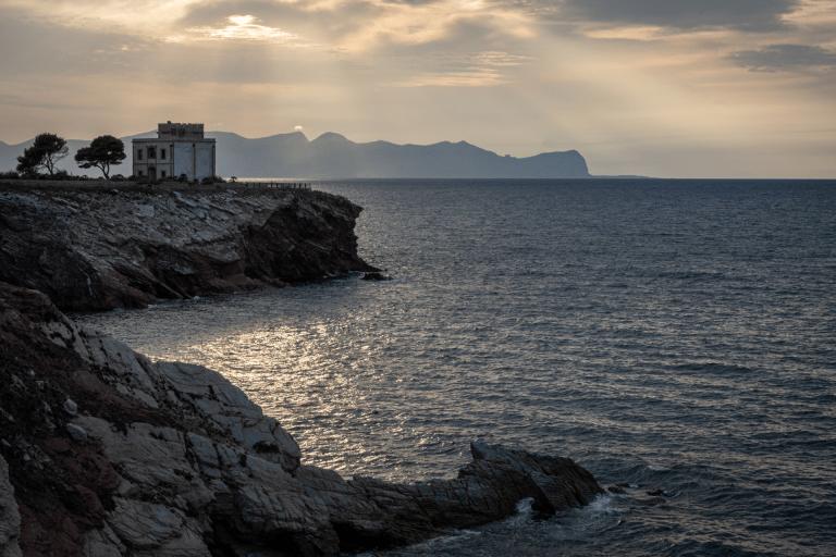 A beautiful view along the coastline of Terrasini Italy (Sicily)