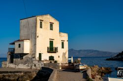 The famous old house Casetta Bianca overlooking the sea