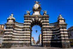 A view of the Porta Ferdinandea (Porta Garibaldi) in Catania Italy (Siciliy)