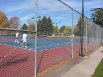 Autumn tennis in Colorado