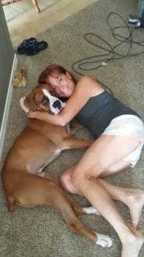 Tank cuddles with Roberta