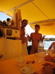 Lunch served on board the Tiko Tiko