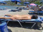 Soaking in the rays at Filiraki Beach