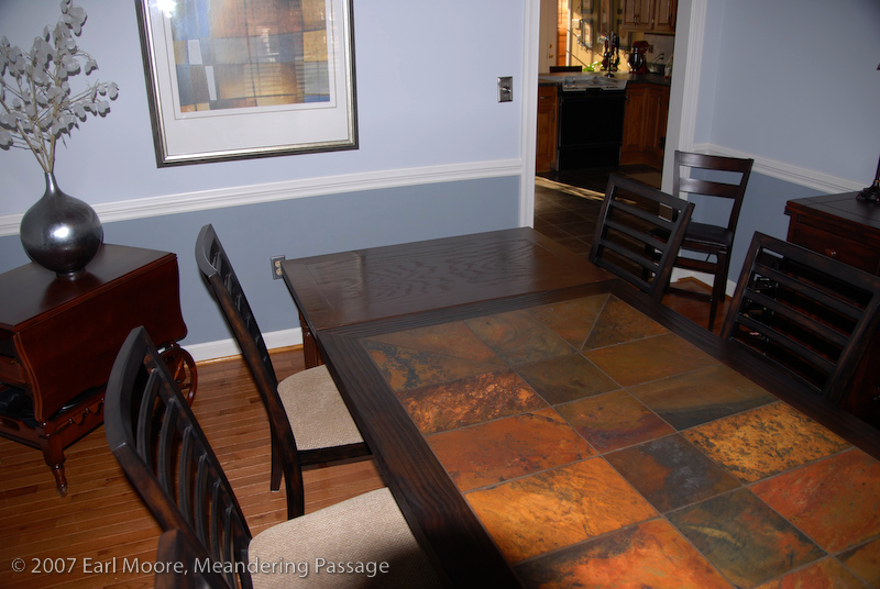 building a dining room table extension meandering passage