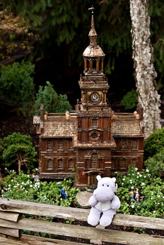 Model Railroad Garden and a Tiny Hippo