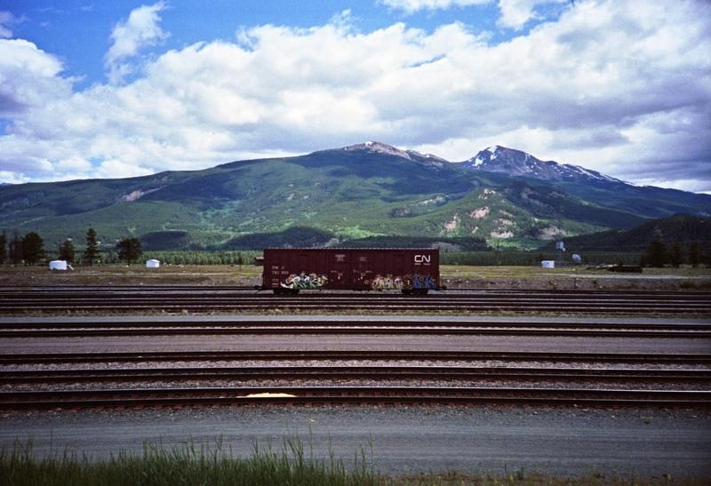 Train car on the way to Alberta