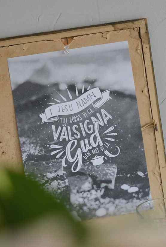 Poster: I Jesu namn till bords vi gå