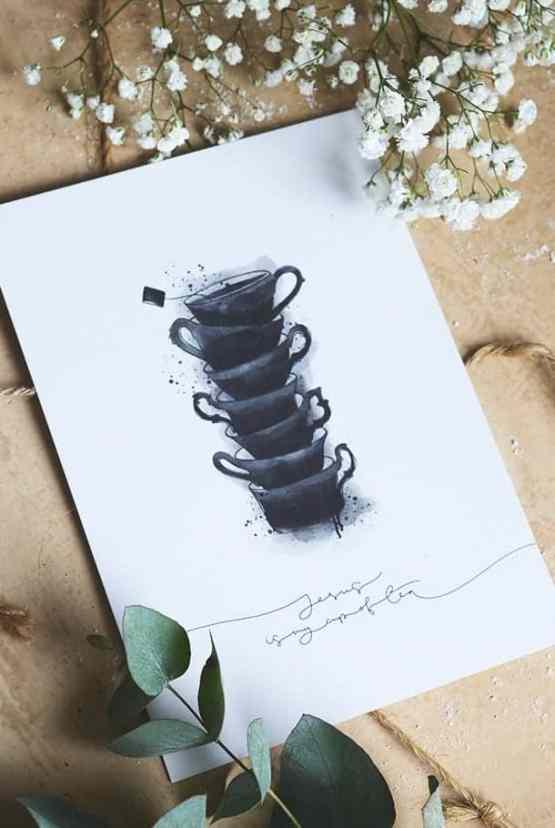 Stort vykort: Jesus is my cup of tea