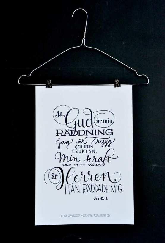 Poster Gud är min räddning