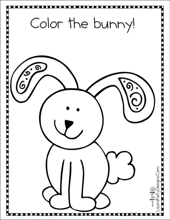 Color the Bunny Printable Coloring Sheet