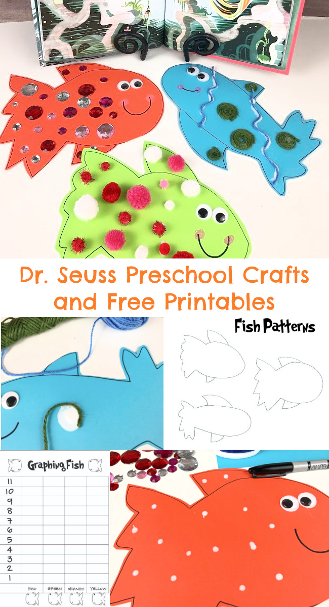Dr. Seuss Preschool Craft and Free Printables