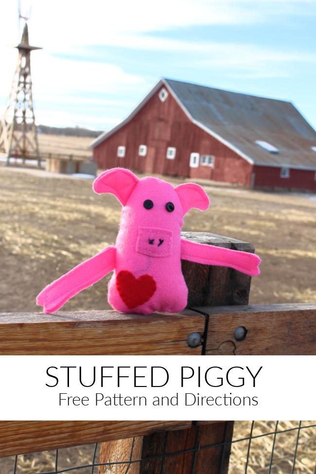 Stuffed Animal Pig Pattern