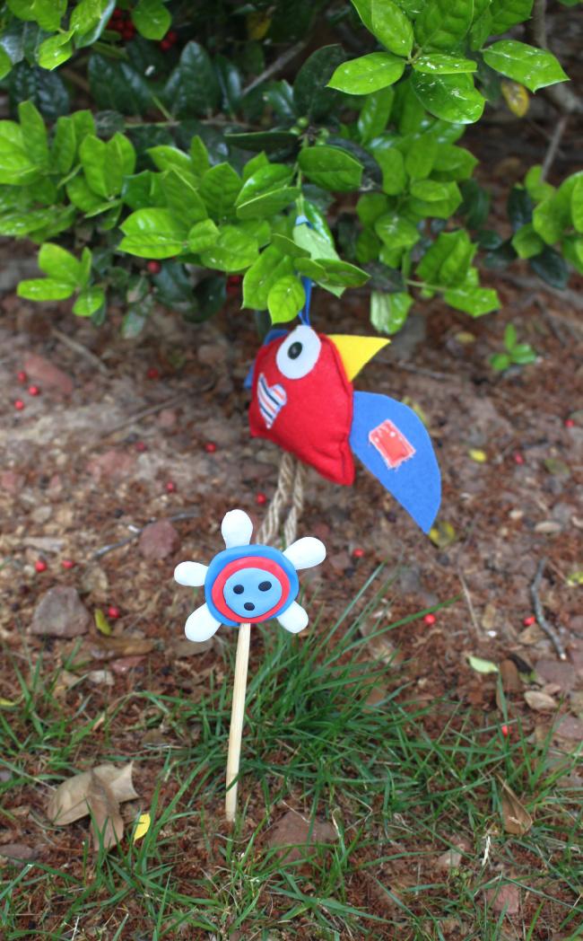 Polymer Clay Yard Flower
