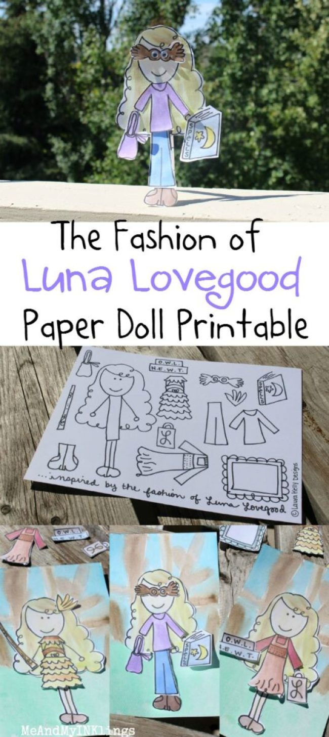 Luna Lovegood Harry Potter Paper Doll Printable Activity