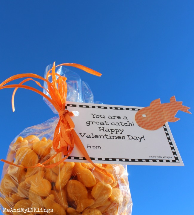 Valentine Printable Tag Goldfish Crackers