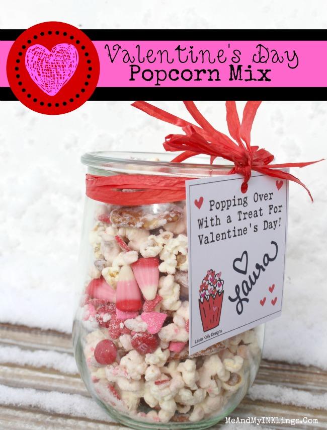 Valentines Day Popcorn Mix Printable