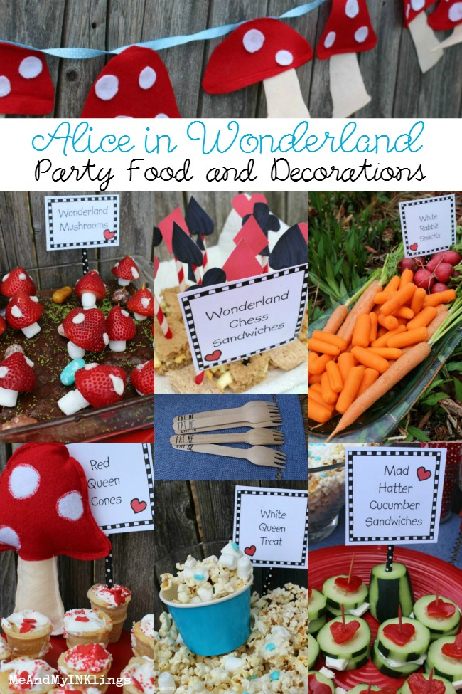 Alice In Wonderland Party Food Ideas Through the Looking Glass