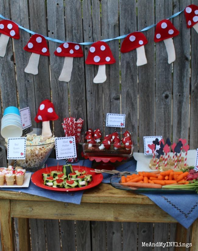 Alice in Wonderland Party Food
