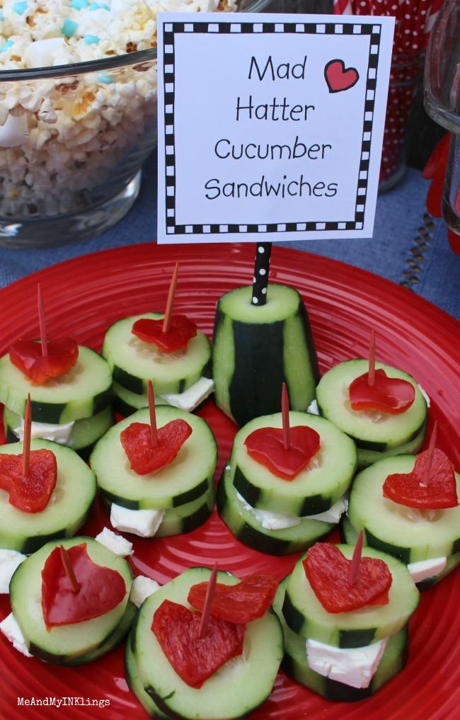 Mad Hatter Cucumber Sandwiches
