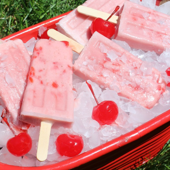 Cherry Man Popsicle Square