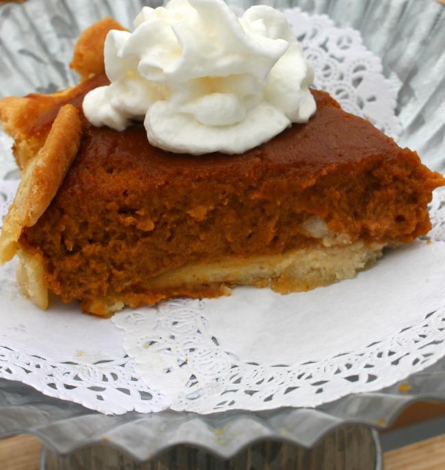 Gluten Free Dairy Free Pumpkin Pie Close Up