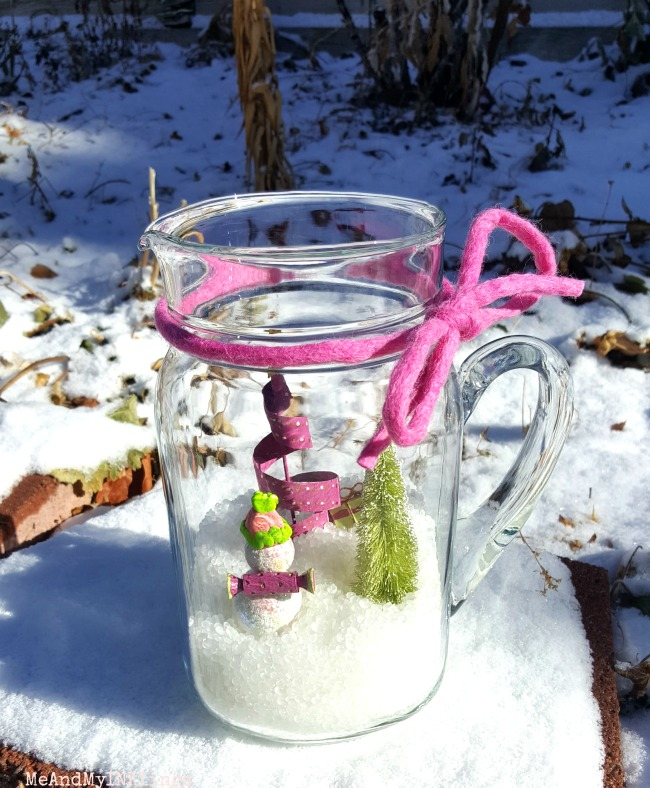 Snow Globe in Pitcher