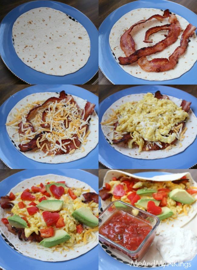 Breakfast Burrito In the Making