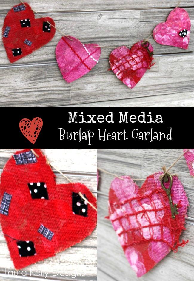 Valentine Garland Decor Mixed Media DIY