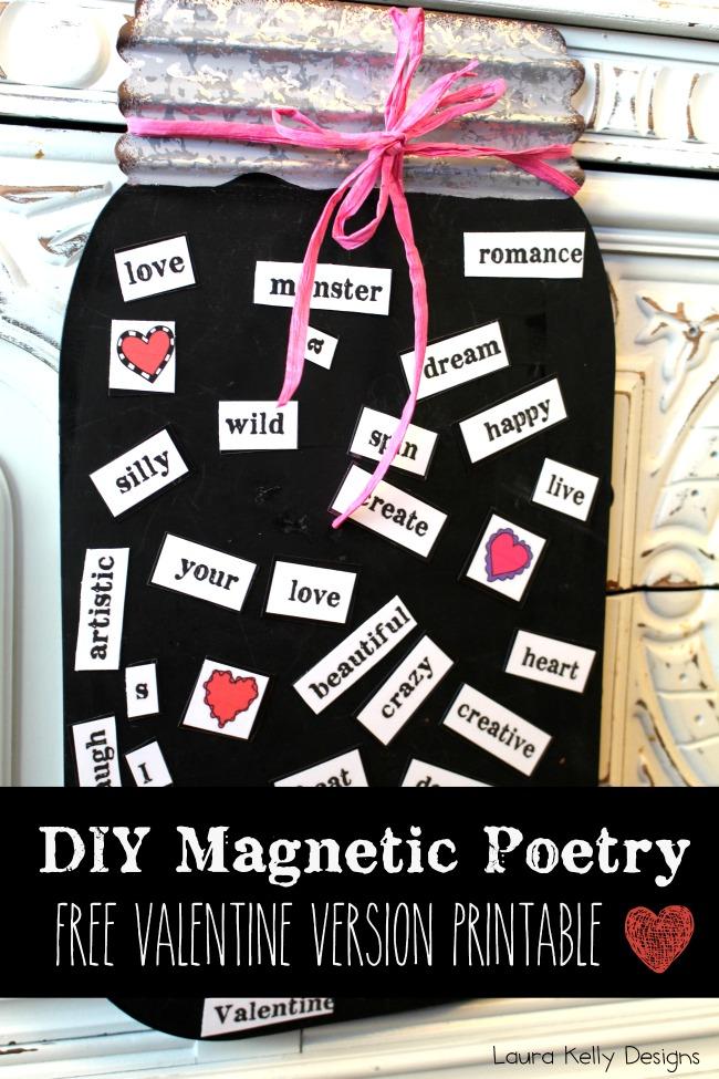 Magnetic Poetry Valentine DIY Printable