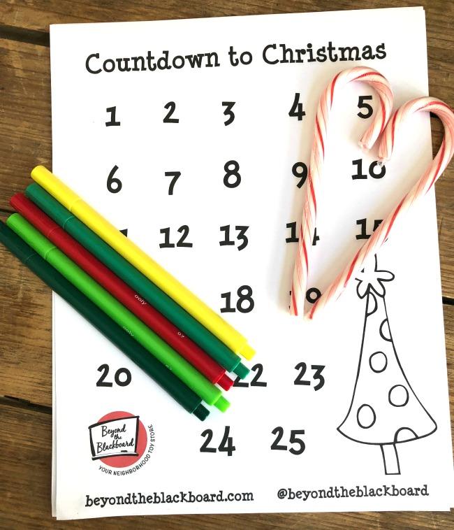 Advent Calendar Free Printable Countdown