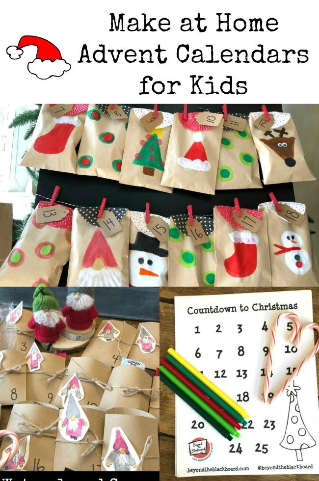 Advent Calendars Kids Make at Home