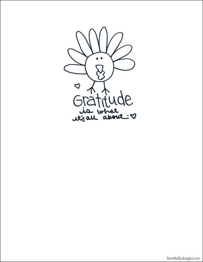 Thanksgiving Gratitude Turkey Printable