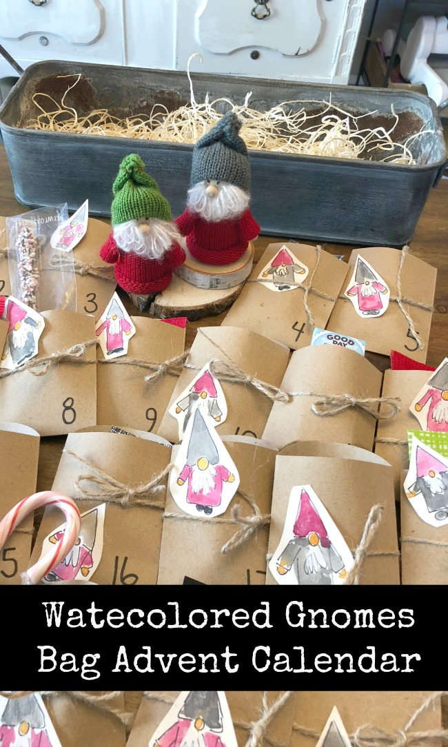 Advent Calendar Paper Bags Gnomes