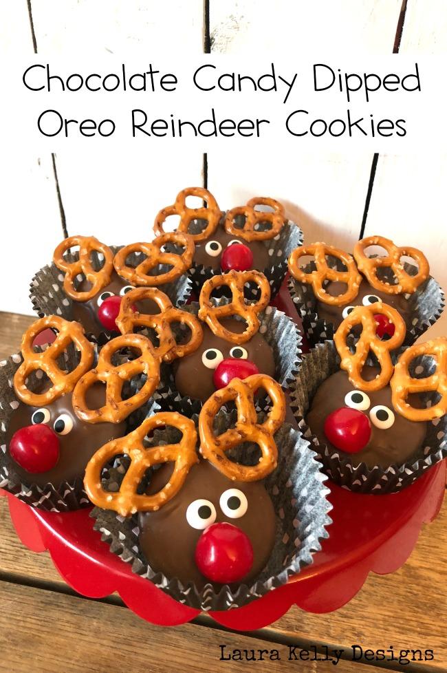 Chocolate Dipped Oreo Reindeer Cookies With Free Printable Games
