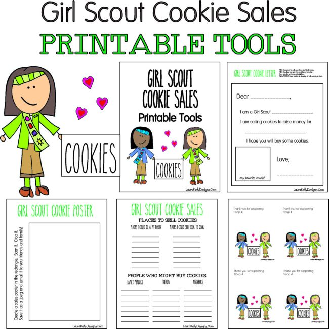 Girl Scout Cookie Sales Printable Tools and Ideas