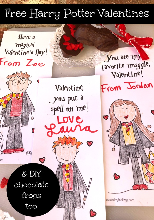 Harry Potter Valentines Day Printable Cards and Puzzle Free