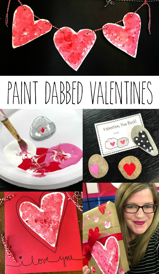 DIY Valentines Paint Dabbed Hearts DecoArt