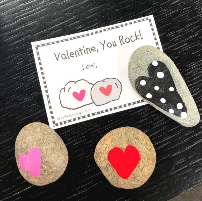 Painted Valentine Rocks