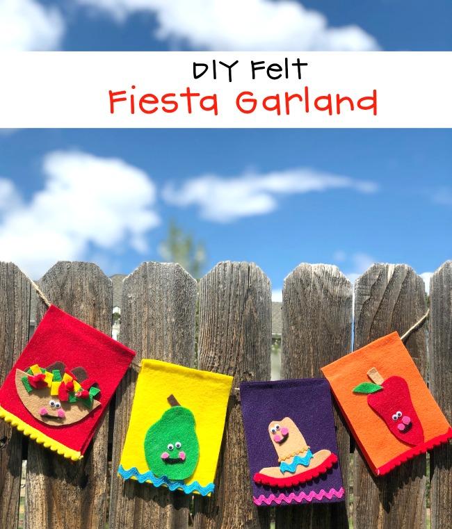 DIY Felt Fiesta Garland Cinco De Mayo Decoration