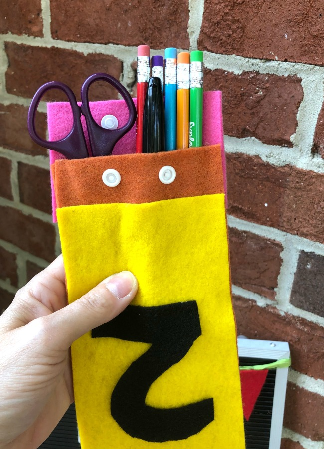 DIY No Sew Felt Pencil Pouch
